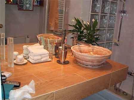 D 700 lavabos muy bonitos de marmol fosilifero peque os - Cuidados del marmol ...